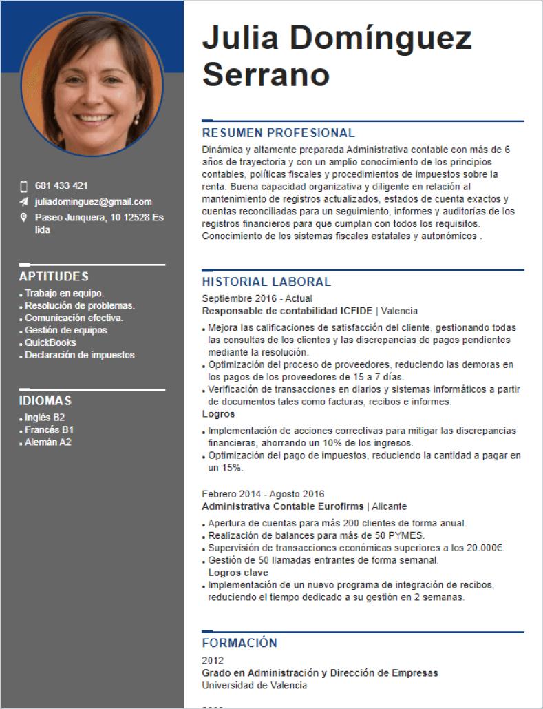 modelo curriculum online
