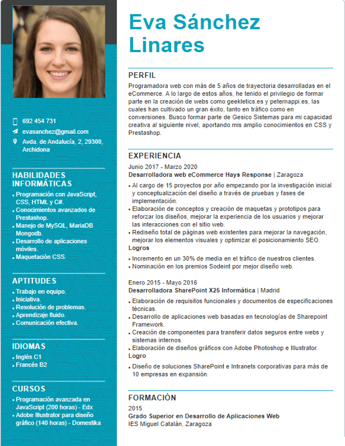 CV banner