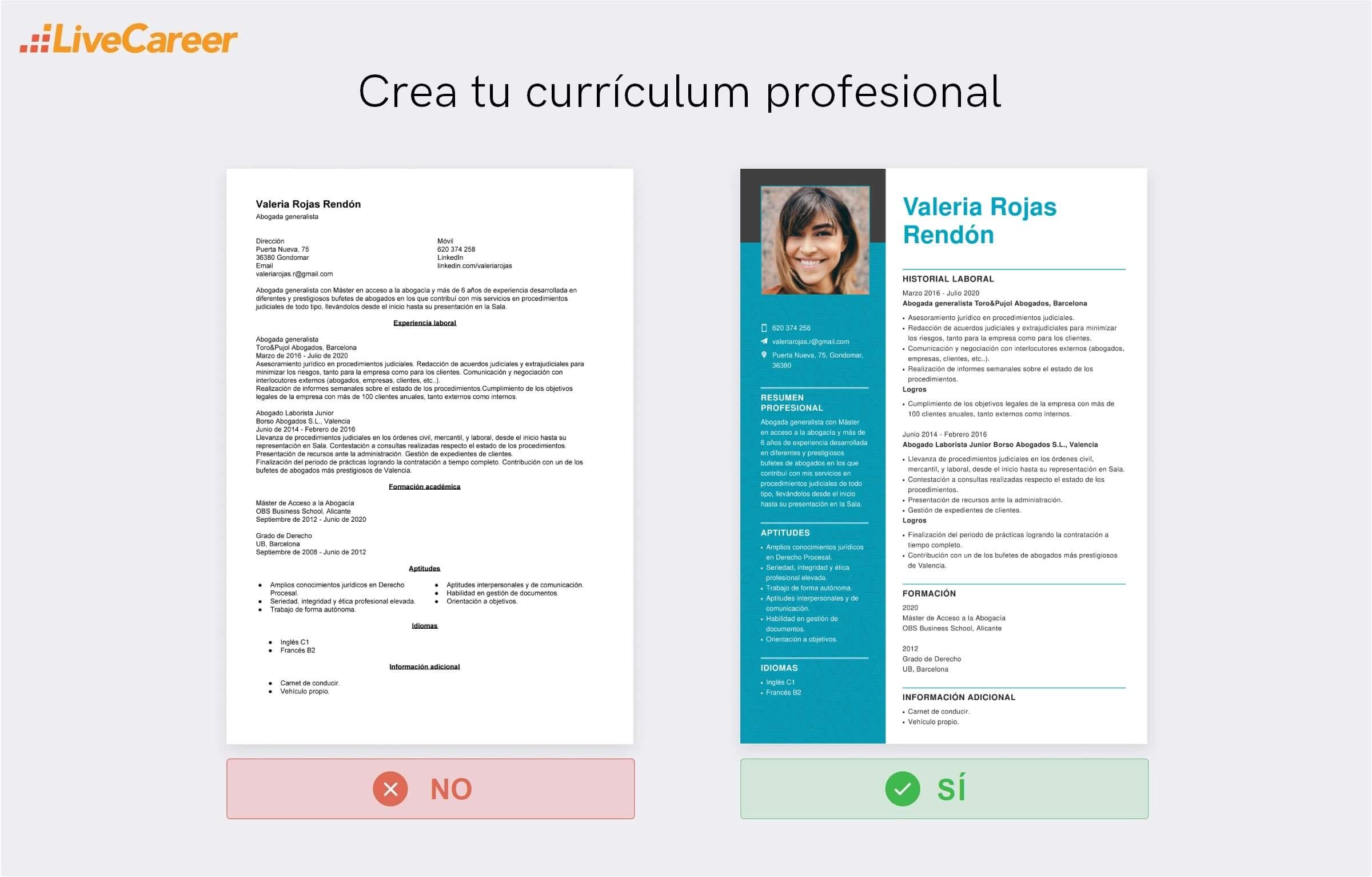 curriculum abogado
