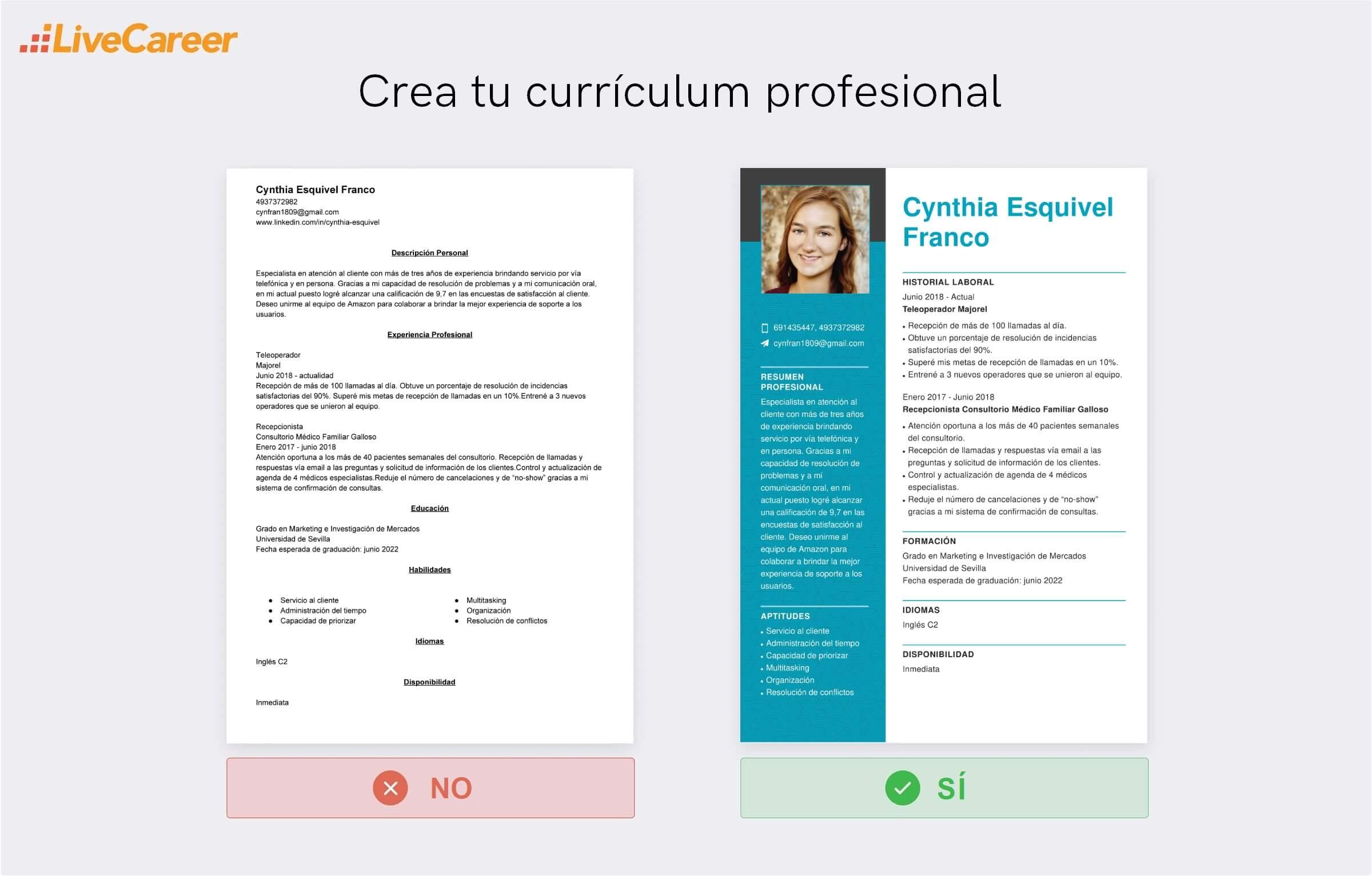 Currículum a Amazon