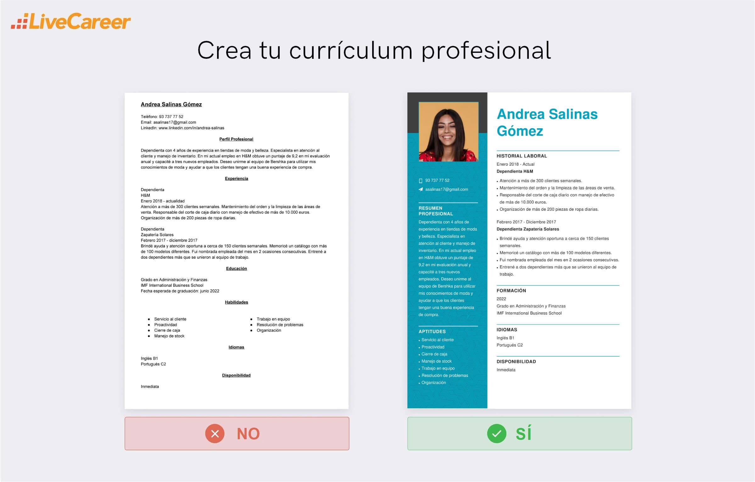 Currículum a Bershka