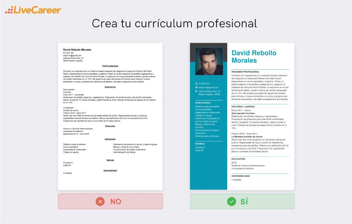 Currículum de Cocinero