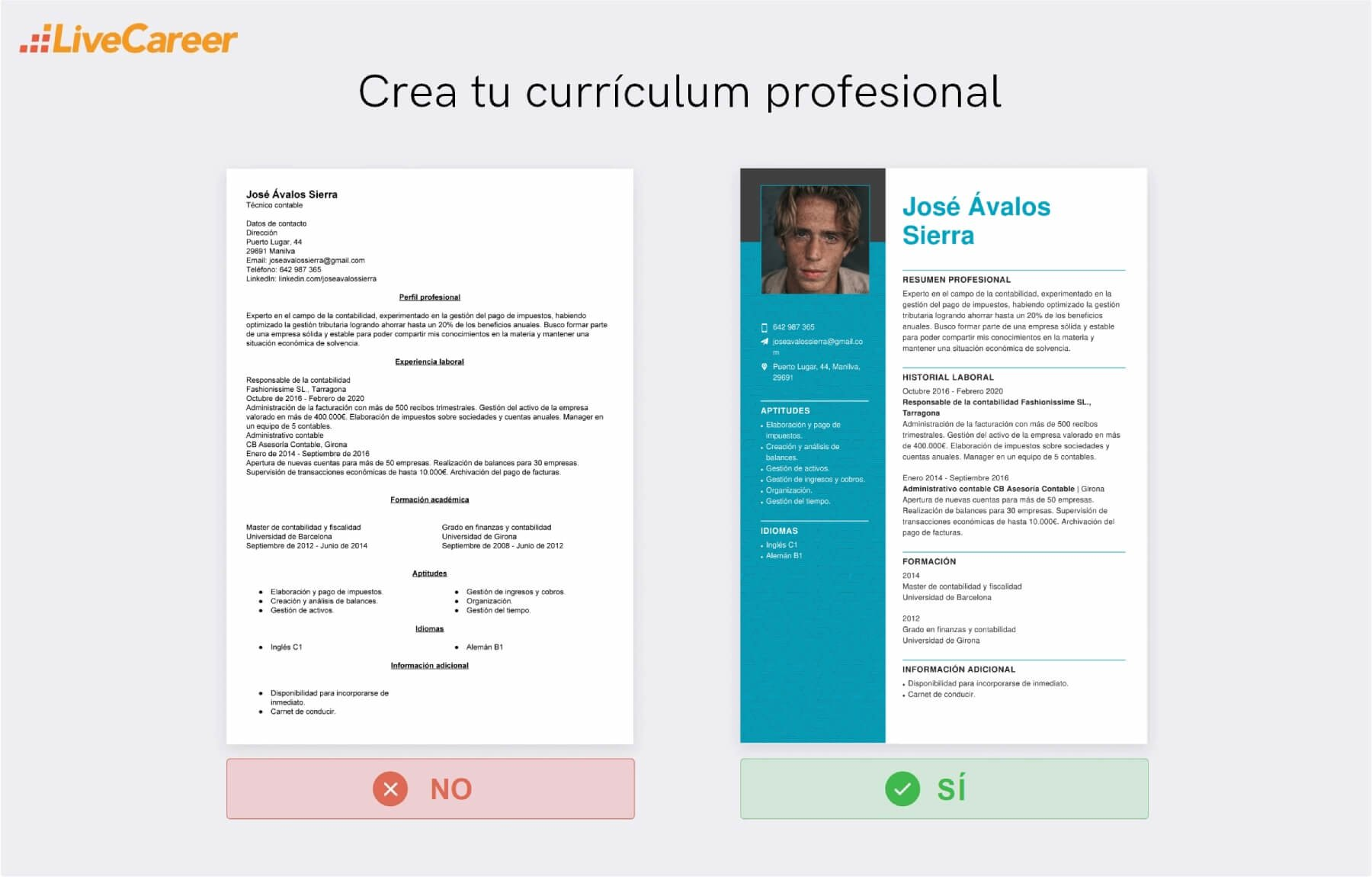 Currículum para Contable