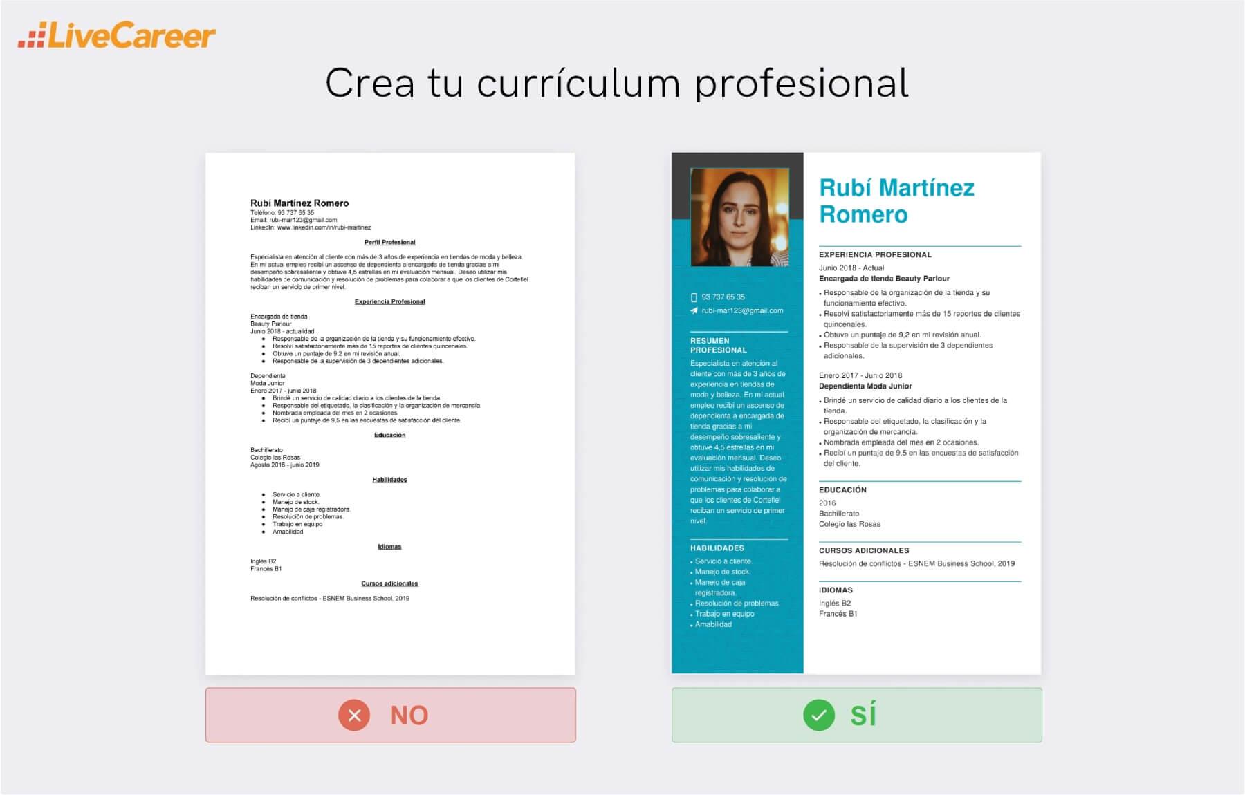 CV en Cortefiel