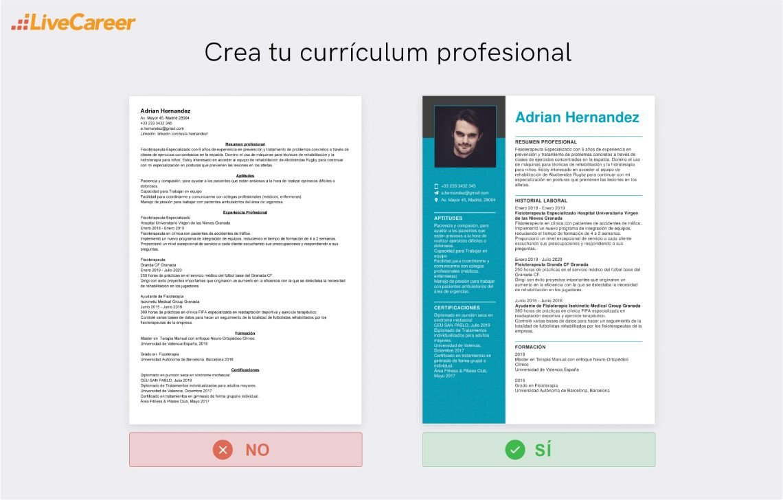 Currículum para Fisioterapeuta