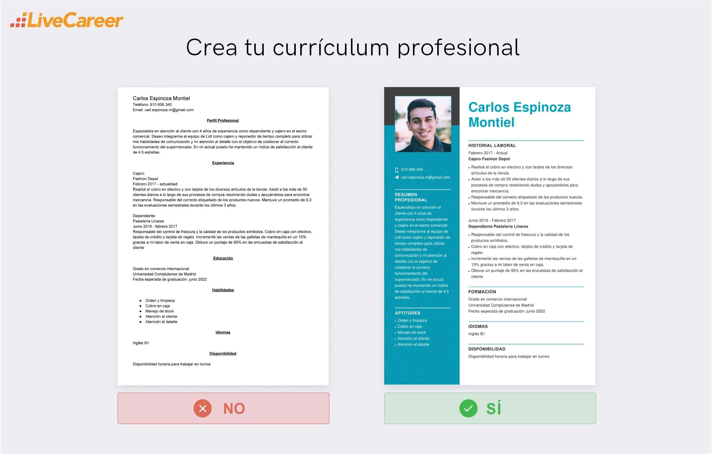 Currículum a Lidl