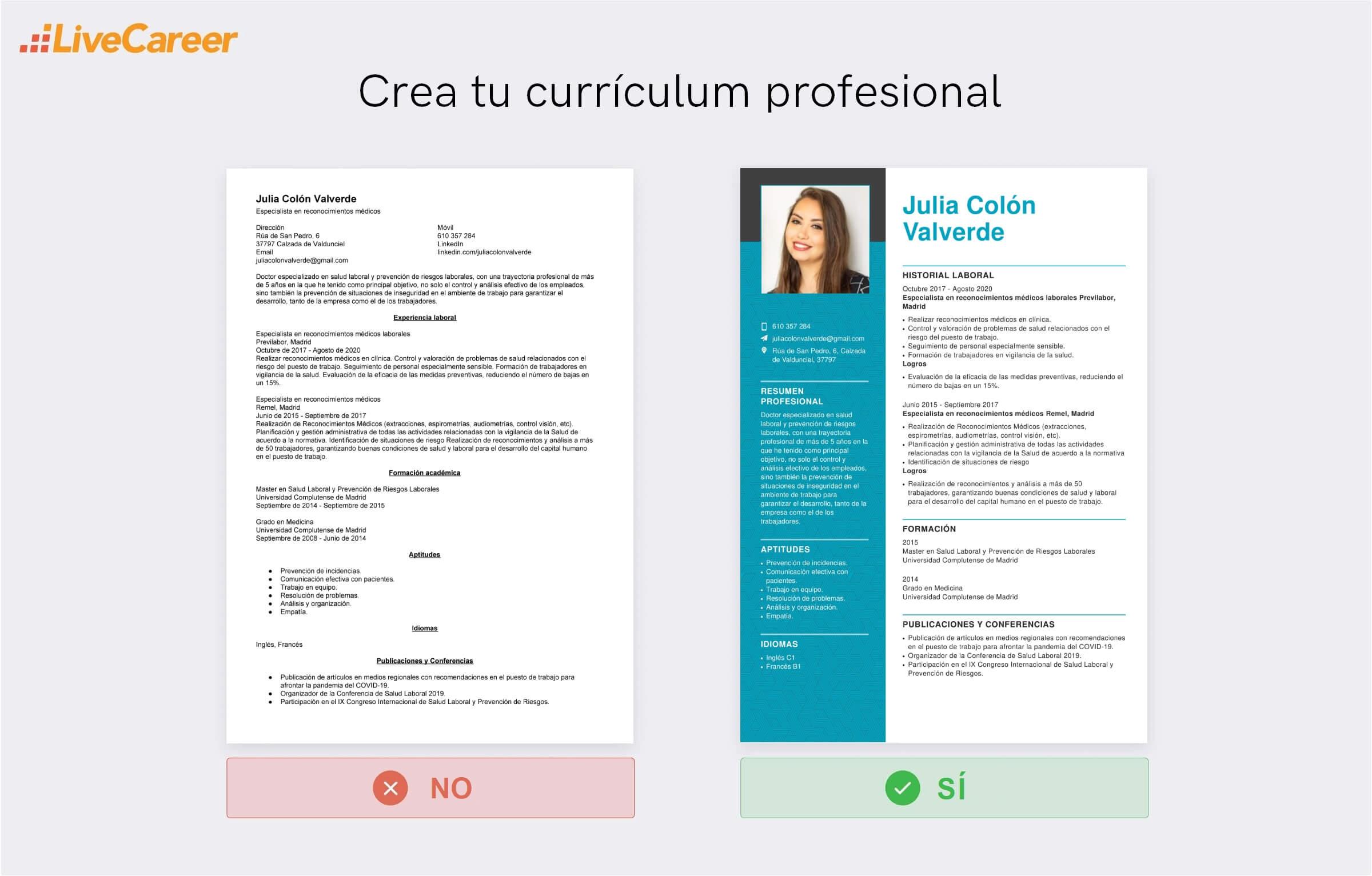 Currículum vitae de Médico