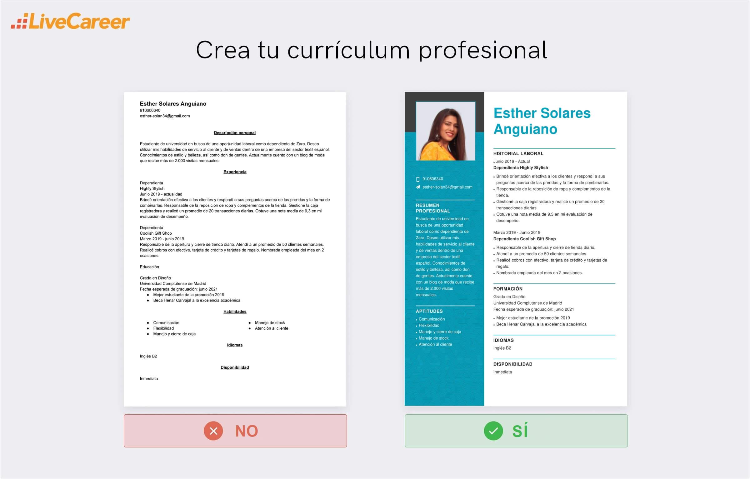 Currículum Zara