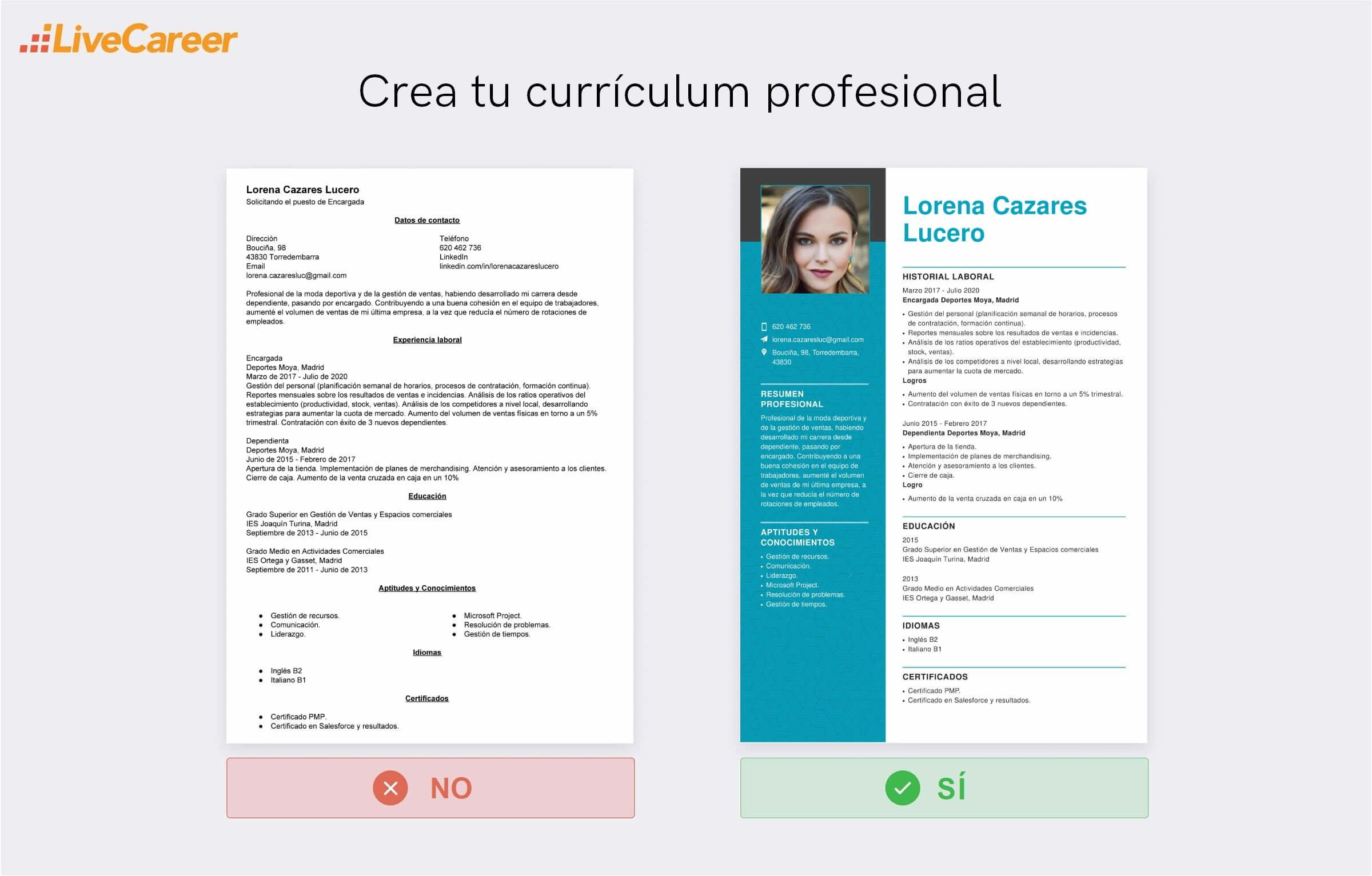 currículum en Décimas