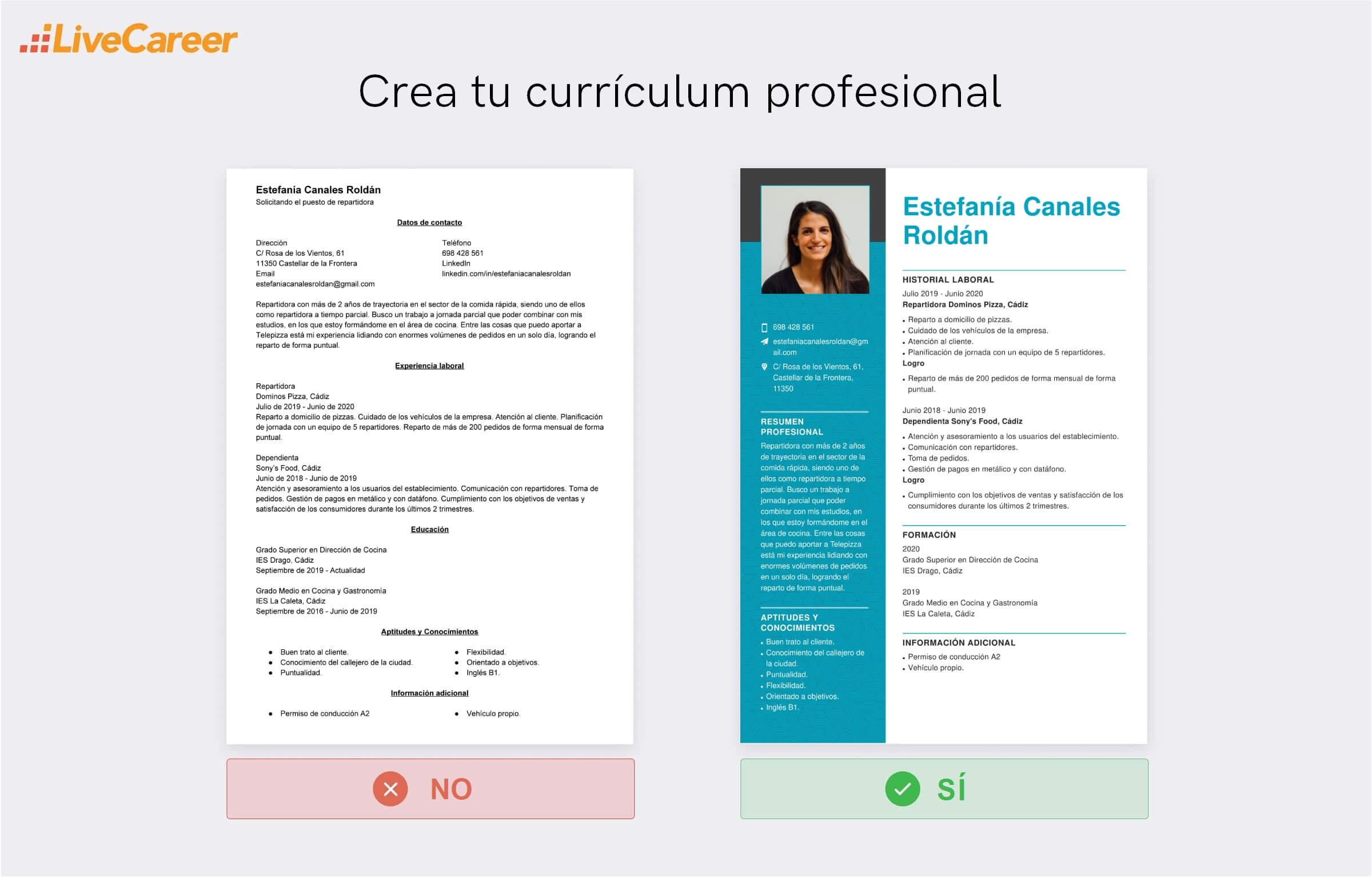 currículum a Telepizza